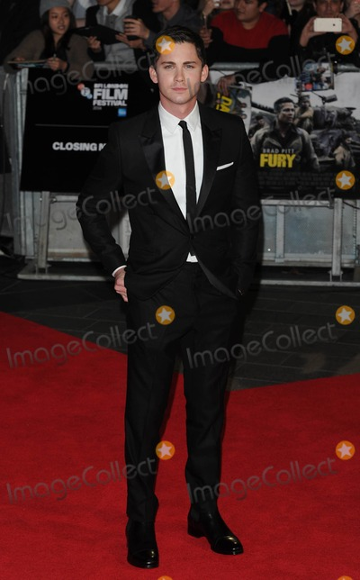 Logan Lerman Photo - Photo by KGC-03starmaxinccomSTAR MAX2014ALL RIGHTS RESERVEDTelephoneFax (212) 995-1196101914Logan Lerman at the premiere of Fury during the 58th BFI London Film Festival(London England UK)