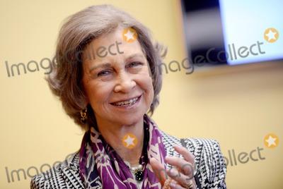 Queen Sofia of Spain Photo - Photo by Dennis Van Tinestarmaxinccom2013ALL RIGHTS RESERVEDTelephoneFax (212) 995-1196112013Her Majesty Queen Sofia of Spain visits Middle School South Bronx(NYC)