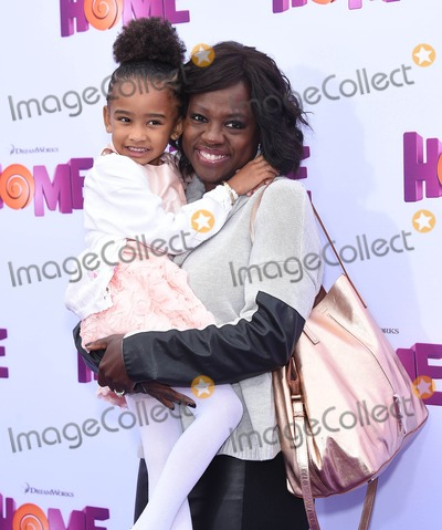 Genesis Photo - Photo by KGC-11starmaxinccomSTAR MAX2015ALL RIGHTS RESERVEDTelephoneFax (212) 995-119632215Viola Davis and her daughter Genesis Tennon at the premiere of Home(Los Angeles CA)