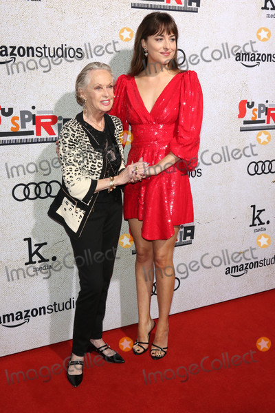 Tippi Hedren Photo - Photo by gotpapstarmaxinccomSTAR MAX2018ALL RIGHTS RESERVEDTelephoneFax (212) 995-11961024118Tippi Hedren and Dakota Johnson at the premiere of Suspira in Hollywood CA