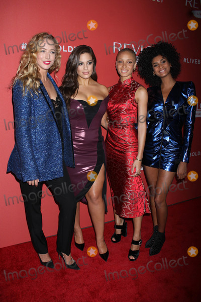 Adwoa Aboah Photo - Photo by Victor MalafrontestarmaxinccomSTAR MAX2018ALL RIGHTS RESERVEDTelephoneFax (212) 995-119612418Raquel Zimmermann Ashley Graham Adwoa Aboah and Imaan Hammam at the launch of Revolons Live Boldly Campaign in New York City
