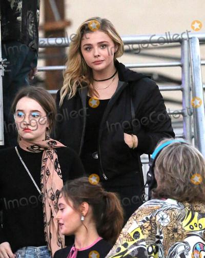 Chloe Moretz Photo - Photo by gotpapPRPhotoscom10316Chloe Moretz and Ella Purnell arrive at Jimmy Kimmel Live