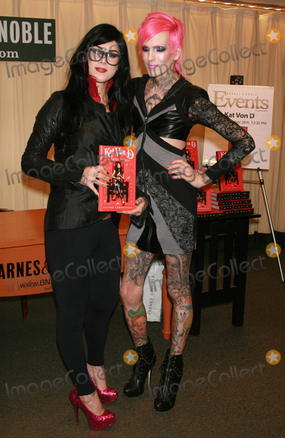 Jeffree Star Photo - Photo by Raoul Gatchalianstarmaxinccom2010102610Kat Von D and Jeffree Star at a signing for Kats new book The Tattoo Chronicles(Barnes  Noble NYC)