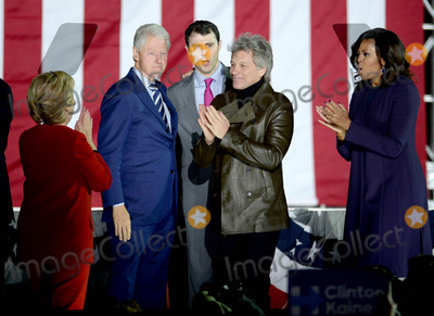 Bill Clinton Photo - Photo by Dennis Van TinestarmaxinccomSTAR MAX2016ALL RIGHTS RESERVEDTelephoneFax (212) 995-119611716Hillary Clinton Bill Clinton Jon Bon Jovi and Michelle Obama at a Get Out The Vote Rally(Philadelphia PA)