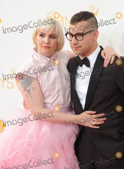 Lena Dunham Photo - Photo by REWestcomstarmaxinccomSTAR MAX2014ALL RIGHTS RESERVEDTelephoneFax (212) 995-119682514Lena Dunham and Jack Antonoff at The 66th Annual Primetime Emmy Awards(Los Angeles CA)