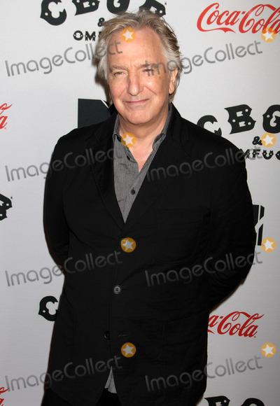 Alan Rickman Photo - Photo by KGC-125starmaxinccom2013ALL RIGHTS RESERVEDTelephoneFax (212) 995-119610813Alan Rickman at the premiere of CBGB(NYC)