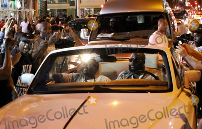 Leonard Roberts Photo - EXCLUSIVE Rapper Rick Ross (aka William Leonard Roberts II) attracts a huge crowd into the street while driving his Rolls Royce convertible on Collins Avenue in South Beach during Urban Weekend Also on Collins in the early morning hours afterwards multiple shootings occurred and according to reports one person died and at least three police officers and four bystanders were injured just one block from the glamorous Ocean Drive Miami Beach FL 52911Fees must be agreed prior to publication