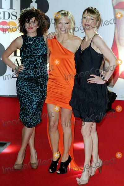 Annie Mac Photo - Annie Mac Jo Whiley and Sara Cox at the Brit Awards held at the O2 Arena London UK 21511