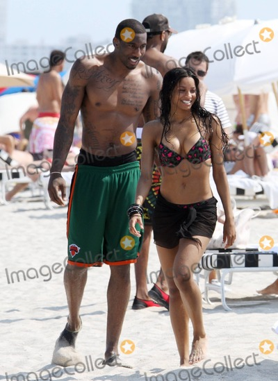 Amare Stoudemire Photo - Bikini beauty Ciara shows off her amazing figure while taking a break on the beach with her boyfriend Amare Stoudemire following an earlier jet ski ride Miami Beach FL 51411