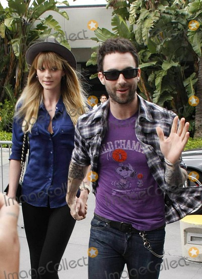 Anne Vyalitsyna Photo - Adam Levine and girlfriend Anne Vyalitsyna arrive at the Staples Center to watch the Denver Nuggets versus the LA Lakers Los Angeles CA 040311
