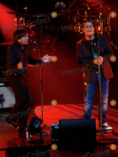 Alejandro Sanz Photo - Latin pop singer Alejandro Sanz performs live at The Gibson Amphitheatre with friends Dominican singer Juan Luis Guerra and Ricardo Montaner  Over his 19-year career Sanz has won 14 Latin Grammy Awards 2 Grammy Awards and has collaborated with Colombian pop star Shakira Alejandro Sanz (R) and Ricardo Montaner pictured Los Angeles CA 072310
