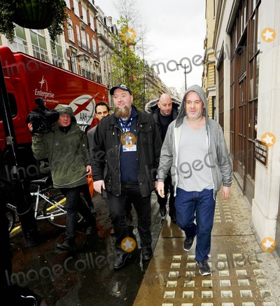 Chris Moyles Photo - On Red Nose Friday BBC Radio DJs Chris Moyles and Comedy Dave (aka David Vitty) are all smiles as they leave BBC Radio studios following their wildly extended 52-hour show which they broadcast to raise money for Comic Relief  On top of raising nearly 4 million for the charity the team also set the Guinness World Record for Radio DJ Endurance created the longest BBC Radio broadcast and had the likes of Katy Perry Lily Allen and Ricky Gervais stop by for guest appearances London UK 031811