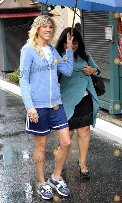 Jackie Warner Photo - Wearing a blue hoodie and soccer shorts celebrity grainer Jackie Warner arrives at The Grove for an interview on Extra Host of the Bravo hit show Thintervention Warner is promoting her new diet book This Is Why Youre Fat (And How to Get Thin Forever) Los Angeles CA 10410