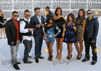 Angelina Pivarnick Photo - Ronnie Ortiz-Magro Michael Sorrentino Paul DelVecchio Nicole Polizzi Jenni Farley Sammi Giancola Angelina Pivarnick and Vinny Guadagnino from MTVs Jersey Shore arrive at the 2010 MTV Video Music Awards held at the Nokia Theatre Los Angeles CA 091210