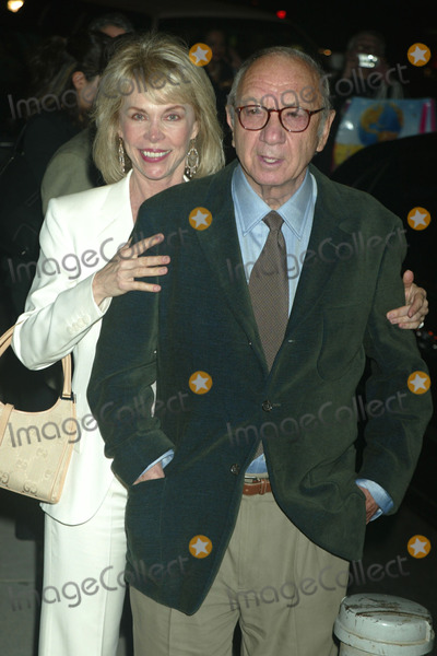 Elaine Joyce Photo - Neil Simon and Wife Elaine Joyce Arriving at the Opening Night Party For Gypsy at Gustavinos in New York City on May 1 2003 Photo by Henry McgeeGlobe Photos Inc 2003