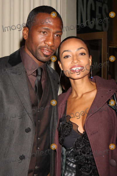 August Wilson Photo - New York NY 04-26-2010Leon Robinson and guest at the opening night performance of August Wilsons FENCES at The Cort TheatreDigital photo by Lane Ericcson-PHOTOlinknet