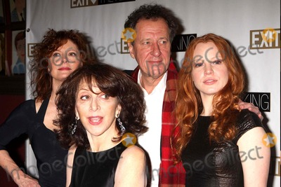 Andrea Martin Photo - Susan Sarandon Andrea Martin Geoffrey Rush and Lauren Ambrose Arriving at the Opening Night Party For Exit the King at Sardis in New York City on March 26 2009 Photo by Henry Mcgee-Globe Photos Inc 2009