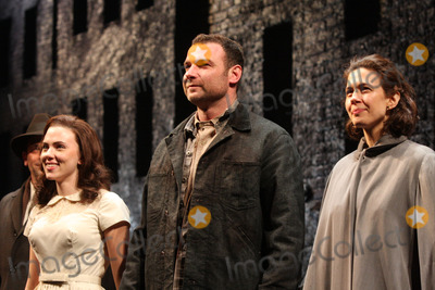 Arthur Miller Photo - New York NY 01-24-2010Scarlett Johansson Liev Schreiber and Jessica Hecht opening night curtain call for Arthur Millers A VIEW FROM THE BRIDGE at the Cort TheatreDigital photo by Lane Ericcson-PHOTOlinknet