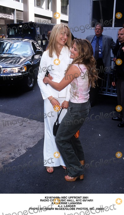AJ Langer Photo - nbc Upfront 2001 Radio City Music Hall NYC 051401 Katherine Lanassa Aj Langer Photo by Henry McgeeGlobe Photos Inc