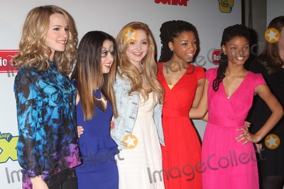 Dove Cameron Photo - Bridgit Mendler Laura Marano Dove Cameron Chloe Bailey and Halle Bailey Arriving at Disneys Kids Upfront 2013-14 at the Hudson Theatre at the Millennium Broadway Hotel in New York City on 03-12-2013 Photo by Henry Mcgee-Globe Photos Inc 2013