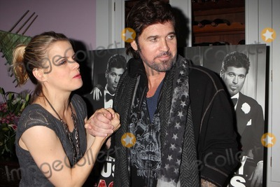 Amy Spanger Photo - Billy Ray Cyrus with Co-star Amy Spanger Arriving at the After-party to Celebrate His Broadway Debut in the Musical Chicago at Victors Cafe in New York City on 11-05-2012 Photo by Henry Mcgee-Globe Photos Inc 2012