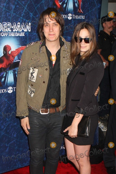 Julian Casablancas Photo - Julian Casablancas of the Strokes and Wife Juliet Joslin Arriving at the Opening Night of spider-man Turn Off the Dark at the Foxwoods Theatre in New York City on 06-14-2011  Photo by Henry Mcgee-Globe Photos Inc 2011