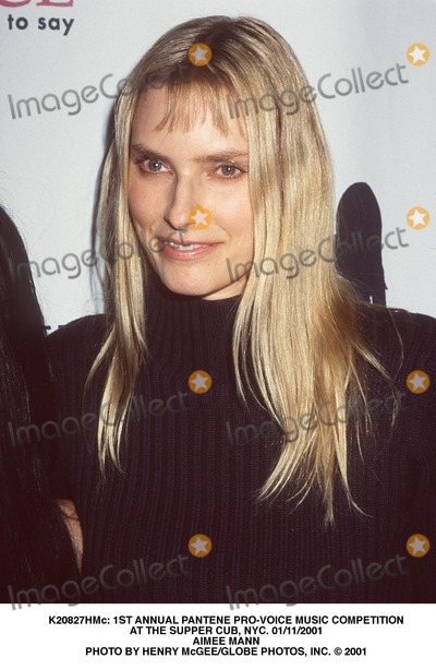 Aimee Mann Photo -  1st Annual Pantene Pro-voice Music Competition at the Supper Cub NYC 01112001 Aimee Mann Photo by Henry McgeeGlobe Photos Inc