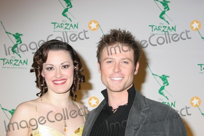 ASHLEY BROWN Photo - NYC  051006Beauty and the Beast cast members Ashley Brown (recently announced to play Mary Poppins on Broadway) and Jacob Young of All My Children (making his Broadway debut) at the opening night party for the new Broadway musical TARZAN presented by Disney at the Marriott MarquisDigital Photo by Adam Nemser-PHOTOlinknet