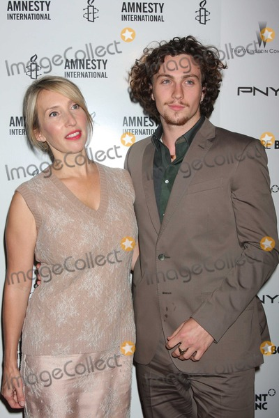 Aaron Johnson Photo - NYC  092110Aaron Johnson (20 year old star of Kick-Ass) and fiance director Sam Taylor-Wood (43 years old) at a screening of their new movie Nowhere Boy at the Tribeca Performing Arts CenterPhoto by Adam Nemser-PHOTOlinknet