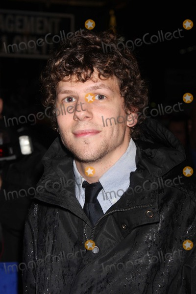 August Wilson Photo - NYC  042610Jesse Eisenberg at the rainy Broadway opening of August Wilsons Fences at the Cort TheatreDigital Photo by Adam Nemser-PHOTOlinknet