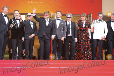 Sir Elton John Photo - CANNES FRANCE - MAY 16 Giles Martin David Furnish Bernie Taupin Sir Elton John Taron Egerton Director Dexter Fletcher and Bryce Dallas Howard attend the screening of Rocket Man during the 72nd annual Cannes Film Festival on May 16 2019 in Cannes France(Photo by Laurent KoffelImageCollectcom)