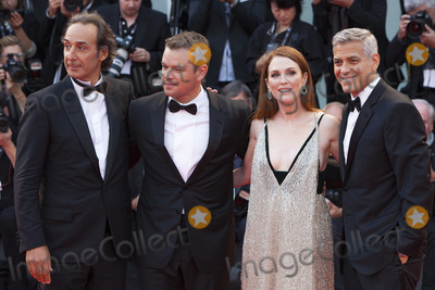 Alexandre Desplat Photo - VENICE ITALY - SEPTEMBER 02 (R-L) George Clooney Julianne Moore Matt Damon and Alexandre Desplat walk the red carpet ahead of the Suburbicon screening during the 74th Venice Film Festival at Sala Grande on September 2 2017 in Venice Italy (Photo by Laurent KoffelImageCollectcom)