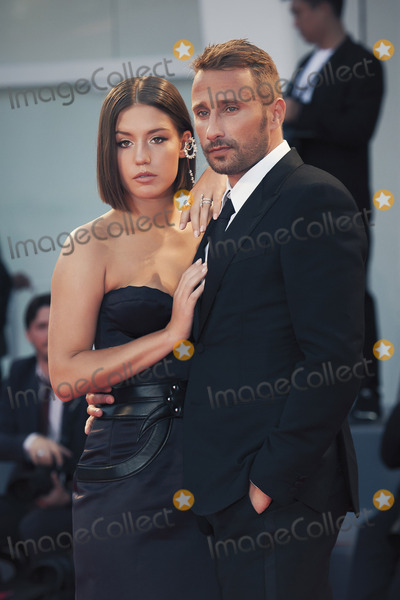 Adele Exarchopoulos Photo - VENICE ITALY - SEPTEMBER 08 Adele Exarchopoulos and Matthias Schoenaerts walk the red carpet ahead of the Racer And The Jailbird (Le Fidele) screening during the 74th Venice Film Festival at Sala Grande on September 8 2017 in Venice Italy(Photo by Laurent KoffelImageCollectcom)