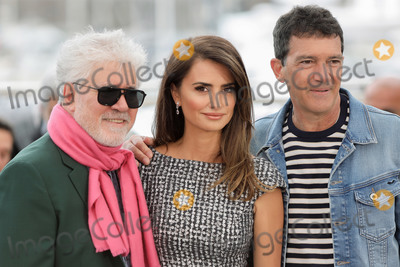 Pedro Almodovar Photo - CANNES FRANCE - MAY 18 (L-R) Director Pedro Almodovar Penelope Cruz and Antonio Banderas attend the Pain And Glory (Dolor Y Gloria Douleur Et Gloire) photocall during the 72nd annual Cannes Film Festival on May 18 2019 in Cannes France (Photo by Laurent KoffelImageCollectcom)