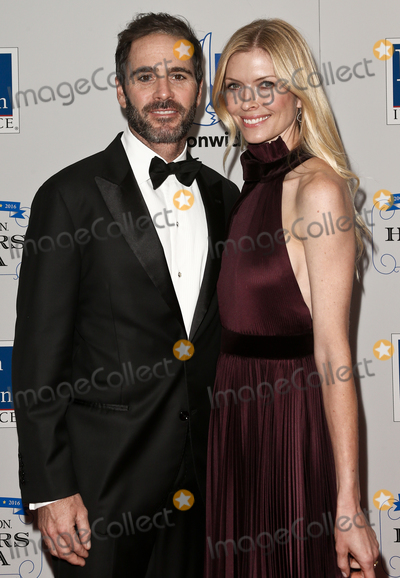 Jimmie Johnson Photo - NEW YORK - SEPTEMBER 27 Jimmie Johnson (L) and wife Chandra Janway attend the 2016 NASCAR Foundation Honors Gala at Marriott Marquis on September 27 2016 in New York City