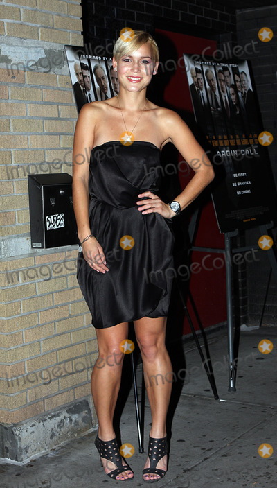Agnes Fischer Photo - Agnes Fischer arriving at the Margin Call premiere at the Landmark Sunshine Cinema on October 17 2011 in New York City