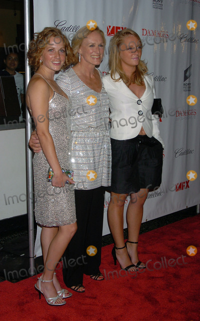 Annie Starke Photo - Actress Glenn Close (center) with Eliza Shaw and Annie Maude Starke arriving at the premiere of Damages presented by FX Productions at the Regal Theatre