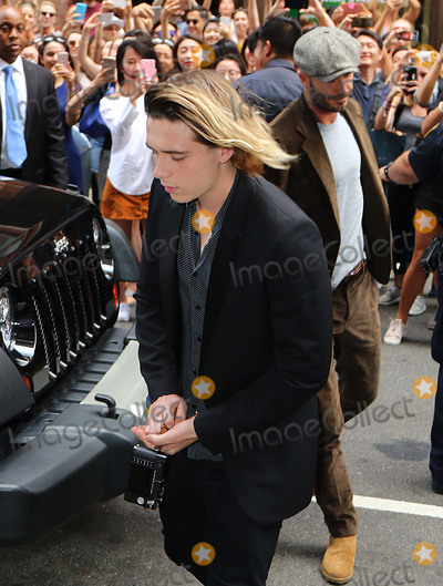 Brooklyn Beckham Photo - September 11 2016 New York CityVictoria Beckham Brooklyn Beckham and David Beckham spotted going into a Manhattan building on September 11 2016 in New York CityPlease byline Zelig ShaulACE PicturesACE Pictures IncTel 1 646 769 0430