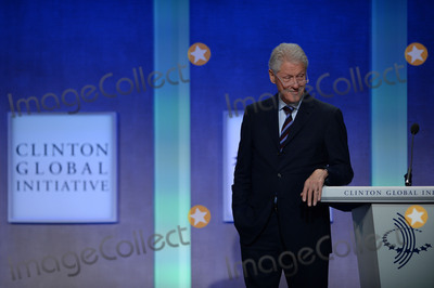 Aleksandar Vucic Photo - September 20 2016  New York CityFormer US President Bill Clinton participates in a panel discussion with Aleksandar Vucic Prime Minister of Serbia and Camil Durakovic Mayor of Srebrenica during the annual Clinton Global Initiative on September 20 2016 in New York CityCredit Kristin CallahanACE PicturesTel 646 769 0430