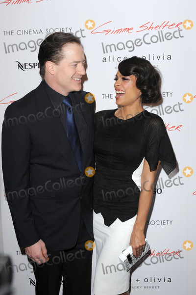 Brendan Fraser Photo - January 22 2014 New York CityBrendan Fraser and Rosario Dawson attending a Roadside Attractions  Day 28 Films with The Cinema Society screening of Gimme Shelter at Museum of Modern Art on January 22 2014 in New York City