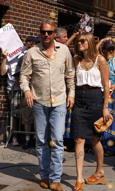 Lily Costner Photo - Actor Kevin Costner (L) and his daughter Lily Costner made an appearance on the Late Show with David Letterman at the Ed Sullivan Theatre on July 29 2008 in New York City