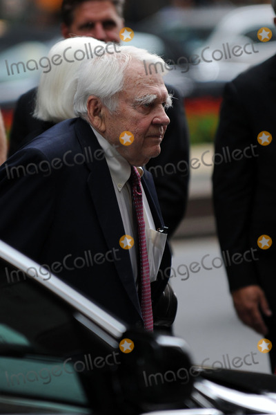 Andy Rooney Photo - Andy Rooney at the funeral of Walter Cronkite on July 23 2009 in New York City Cronkite died last Friday July 17 at his Manhattan apartment at the age of 92