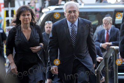 Anne Sinclair Photo - Former International Monetary Fund (IMF) director Dominique Strauss-Kahn arrives to Manhattan State Supreme Court with his wife Anne Sinclair  on August 23 2011 in New York City The Manhattan District Attorneys office has filed a motion to dismiss the sexual assault charges against Strauss-Kahn  August 23 2011 in New York City