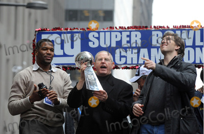 Tom Coughlin Photo - Michael Strahan Tom Coughlin Quarterback Eli Manning Mayor Michael Bloomberg