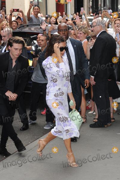 Brooklyn Beckham Photo - September 11 2016 New York CityBrooklyn Beckham and Victoria Beckhamarriving to Balthazar in New York City on September 11 2016Credit Kristin CallahanACE Picturestel 646 769 0430