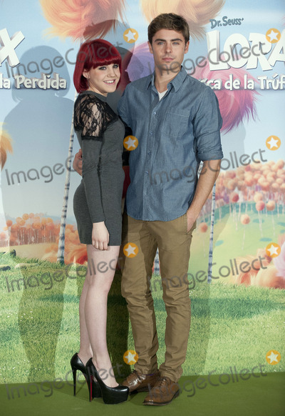 The Lorax Photo - (L-R) Singer Angy and actor Zac Efron at a photocall for Dr Seuss The Lorax at Villa Magna Hotel on March 8 2012 in Madrid Spain