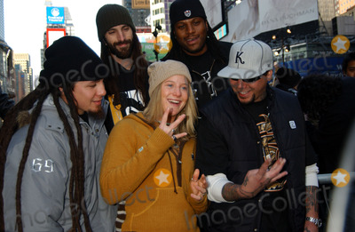 Hannah Teter Photo - Hannah Teter gold medalist in womens snowboarding halfpipe with POD in Times Square