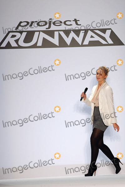 APRIL JOHNSTON Photo - Designer April Johnston on the runway at the Project Runway Spring 2011 fashion show during Mercedes-Benz Fashion Week at The Theater at Lincoln Center on September 9 2010 in New York City