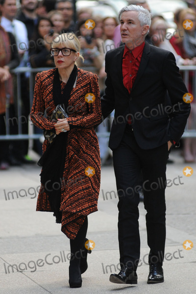 LWren Scott Photo - May 2 2014 New York CityCatherine Martin and Baz Luhrmann attending a memorial service for L Wren Scott at St Bartholomews Church in New York City on May 2 2014