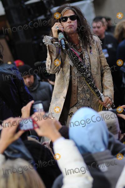 Aerosmith Photo - November 02 2012 New York City Steven Tyler of Aerosmith performs on NBCs Today at Rockefeller Center on November 02 2012 in New York City